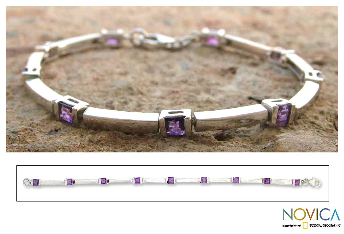 'Current' Amethyst Bracelet (India)