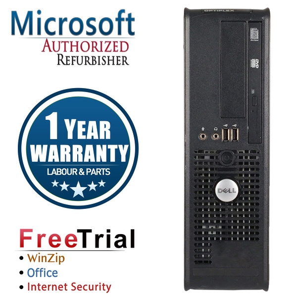 Refurbished Dell OptiPlex 760 SFF Intel Core 2 Duo E6550 2.33G 4G DDR2 160G DVD Win 10 Home 1 Year Warranty - Silver