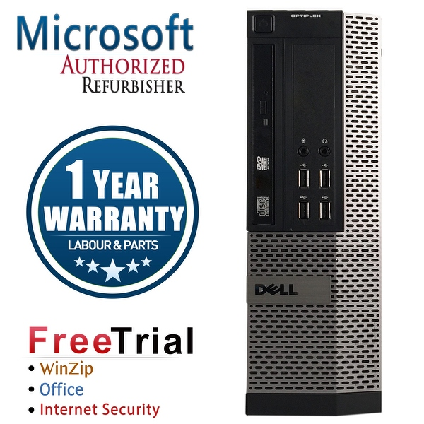 Refurbished Dell OptiPlex 790 SFF Intel Core I3 2100 3.1G 8G DDR3 1TB DVD Win 7 Pro 64 Bits 1 Year Warranty - Black