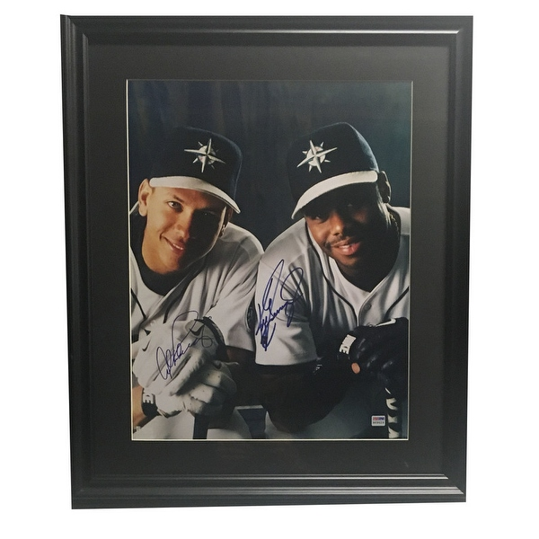 Ken Griffey Jr Alex Rodriguez Autographed Mariners Signed Baseball 16x20 Framed Photo PSA DNA Photo