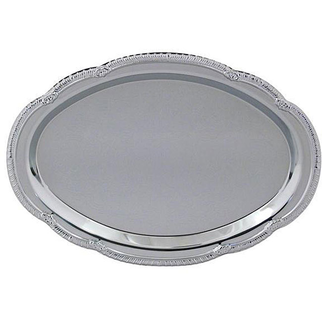 American Metalcraft Oval Chrome Tray