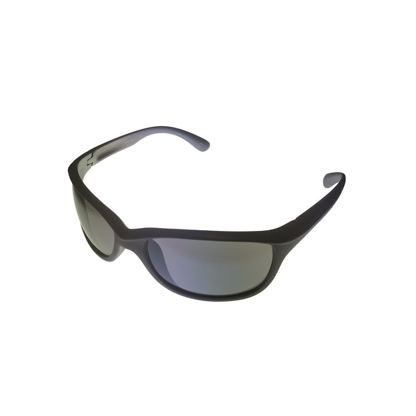 Timberland Mens Sunglass Grey Plastic Wrap, Blue Flash Lens TB7117 20C - Medium
