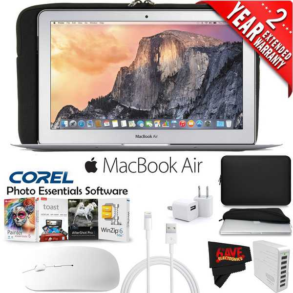 Apple 11.6-Inch MacBook Air with Corel Photo Essentials Software